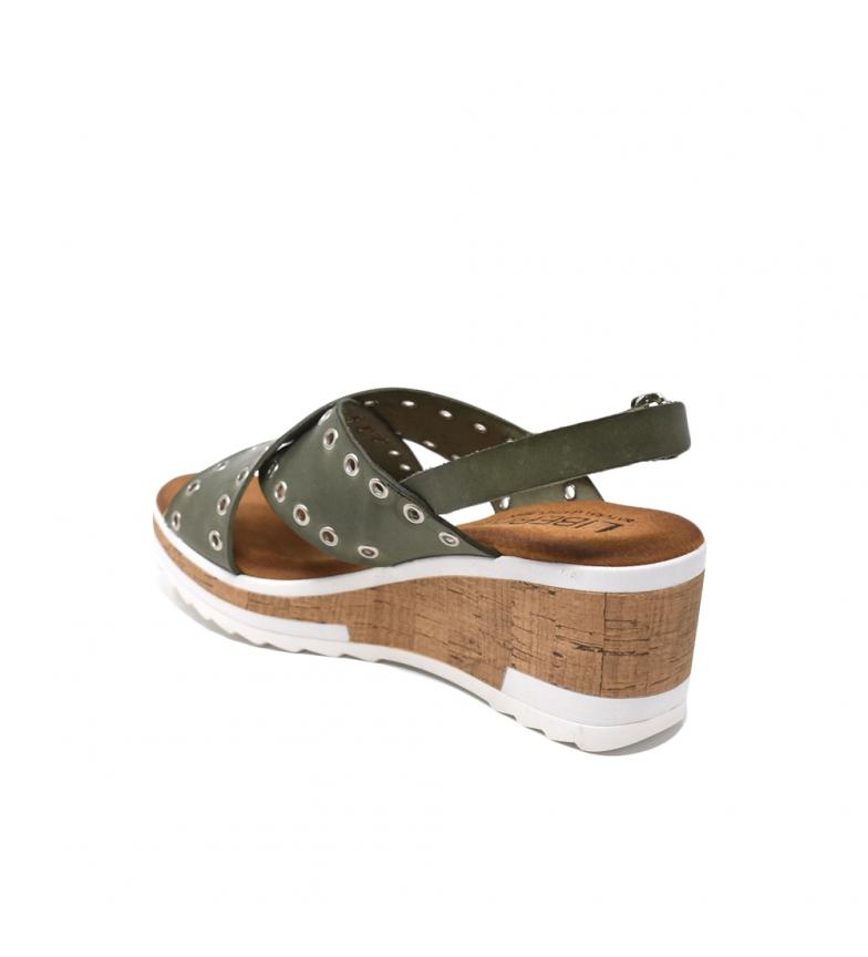sneakernews à vendre pas cher profiter Liberitae Coin En Cuir Kaki Sandale expédition rapide amazone Footaction hGRD78PcPL