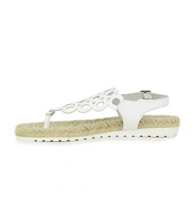 unisexe Peau Blanche Liberitae Sandale Plate en ligne officielle à bas prix QqMtqK