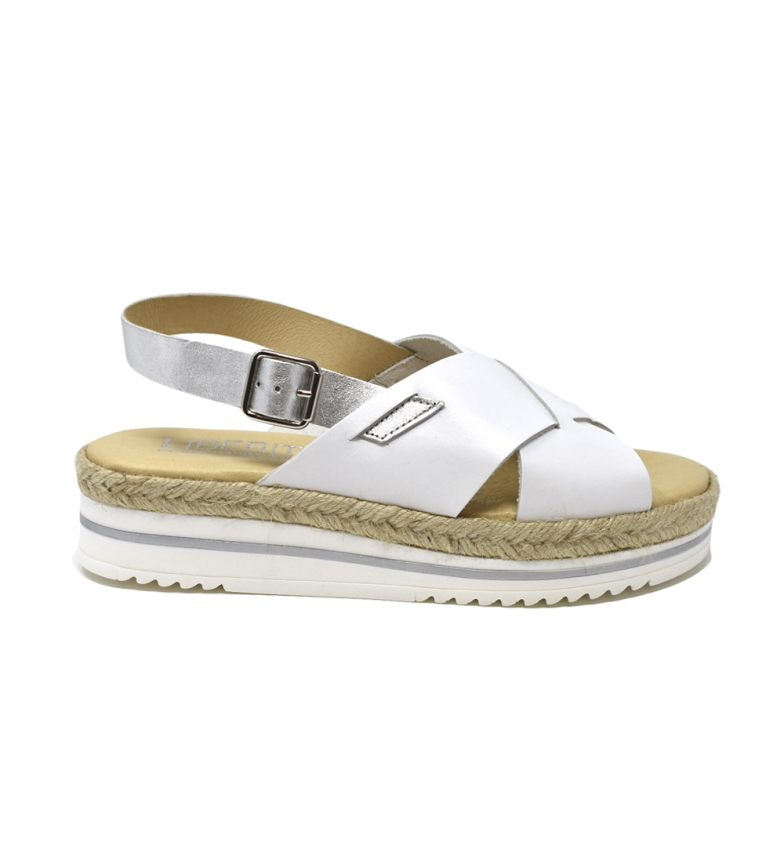 Peau Blanche Liberitae Sandale Plate