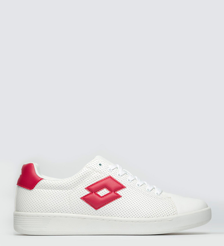 1973 Vii Chaussures Loto Blanc, Micro Rouge