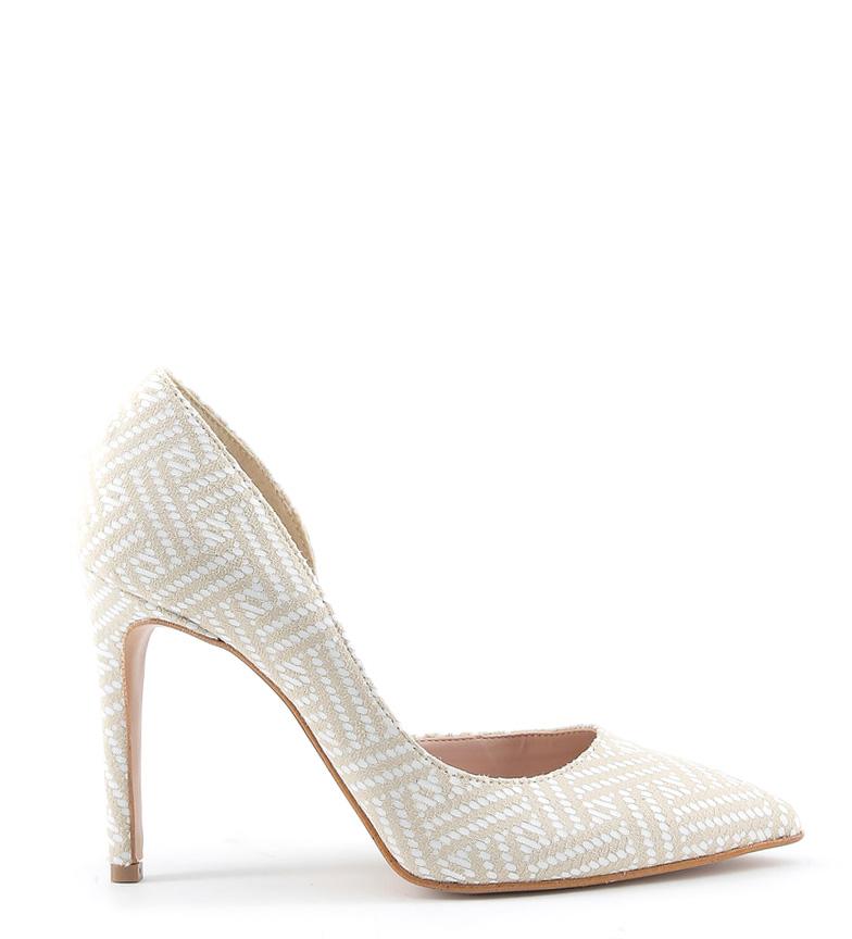 Chaussures Faites En Amine Blanche Italie Hauteur Du Talon Beige: 10cm