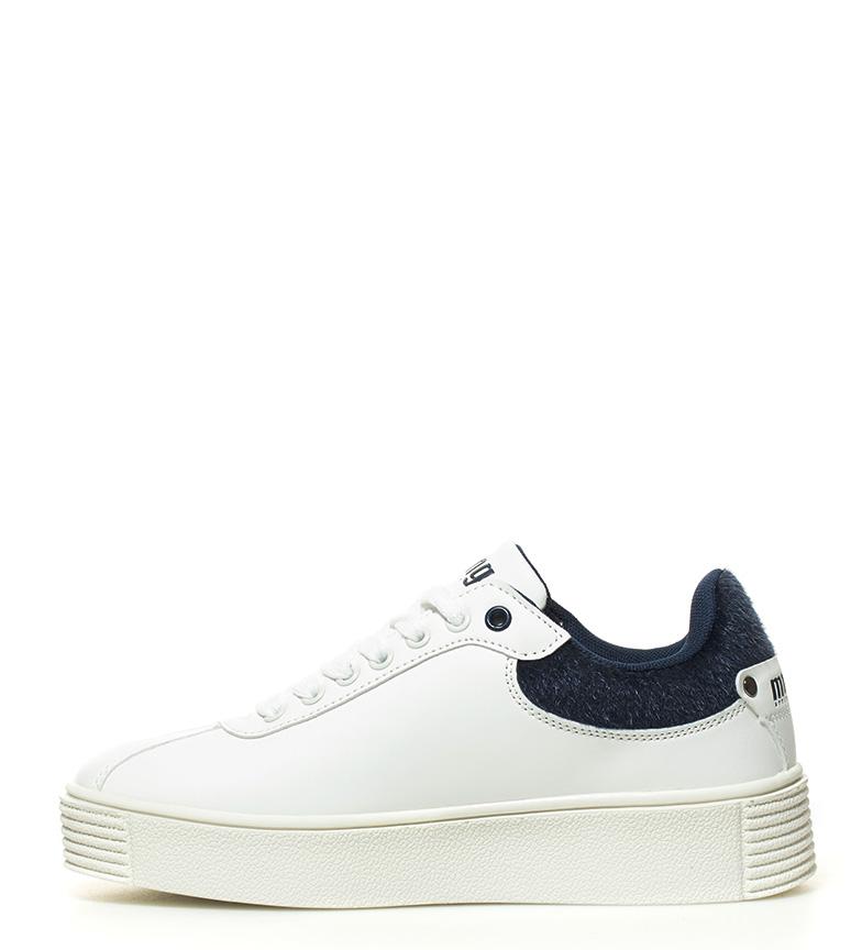 Chaussures Dufan Mustang Blanc, Bleu