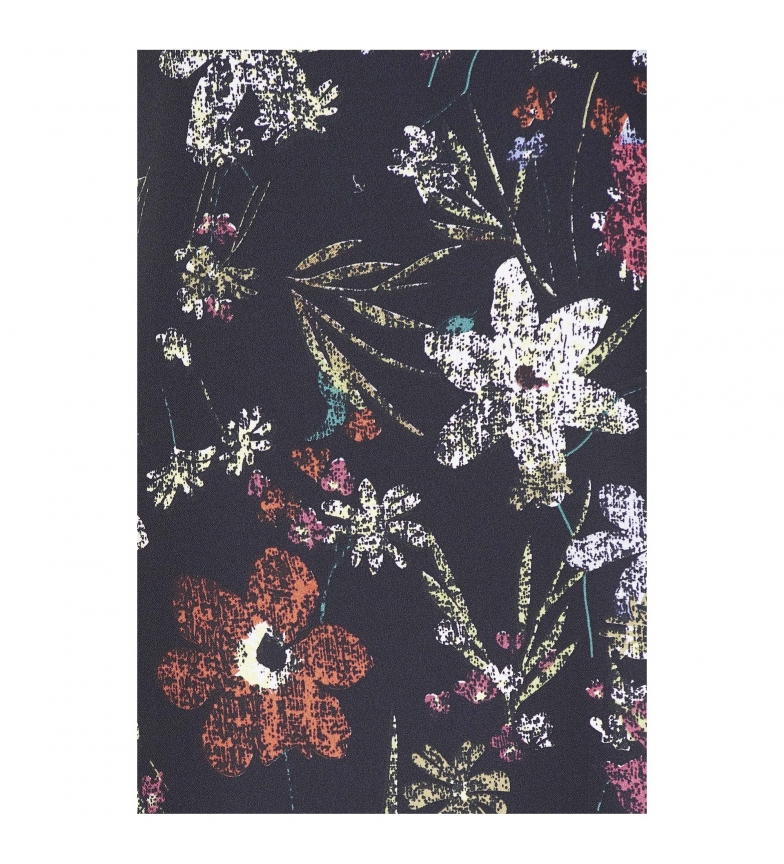 Livraison gratuite qualité Jolie Robe Avec Imprimé Floral Noir À Manches Longues haute qualité vente Nice avec mastercard vente rVWRMH6eo4
