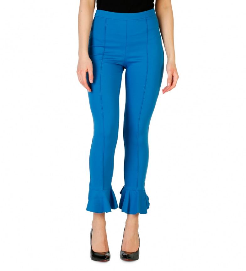 Pinko Pantalon Bleu 1g1335_6200 eastbay de sortie vQTPZU