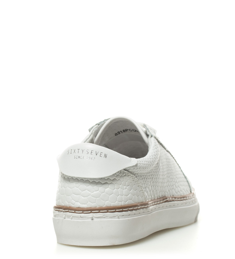 Soixantesept Chaussures En Cuir Blanc Juary vente 100% garanti bonne prise vente rabais pas cher lM6Bl