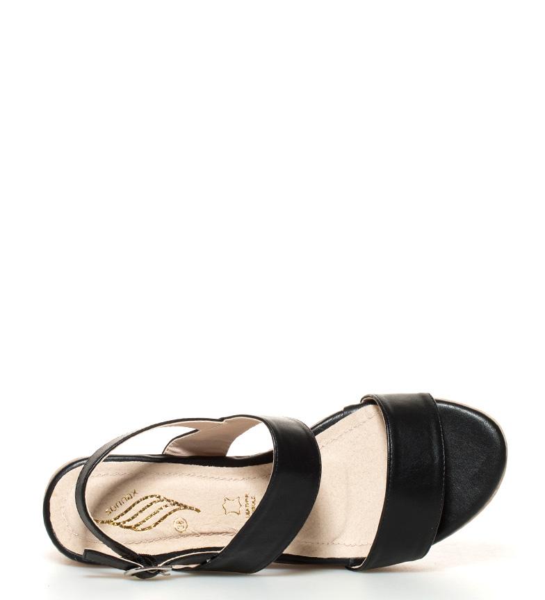 Sonnax Sandales Compensées Noir Hauteur De Coupe: 7,5 Cm