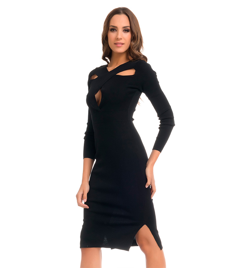 vue rabais Tantra Robe Noire Taille Haute original rabais style de mode réel en ligne super bi5mmq5