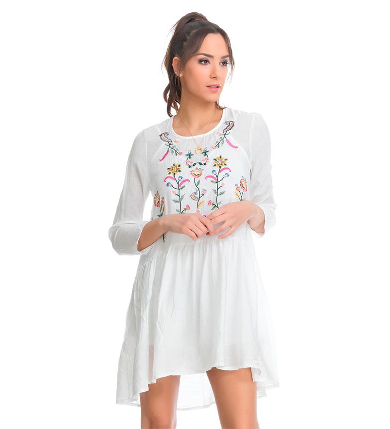 vente magasin d'usine visite Tantra Floral Robe Blanche Brodée xnjXEbv7o