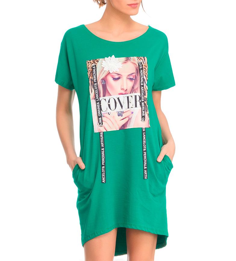 Robe Imprimé Vert Tantra Parcourir réduction pas cher professionnel photos à vendre XEIwX