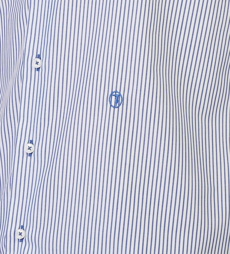 Trussardi Rayas Chemise M / Z Bleu meilleure vente visite vente Nice best-seller rabais pas cher fiable r7IOA