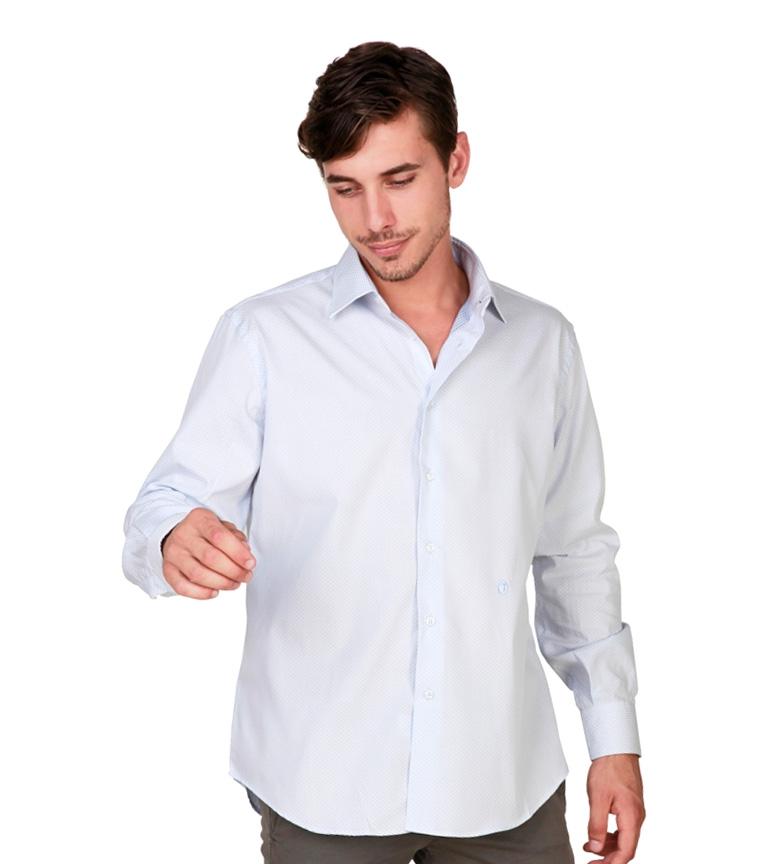 Trussardi Camisa Celeste M / L mieux en ligne ZZ4TWSTY