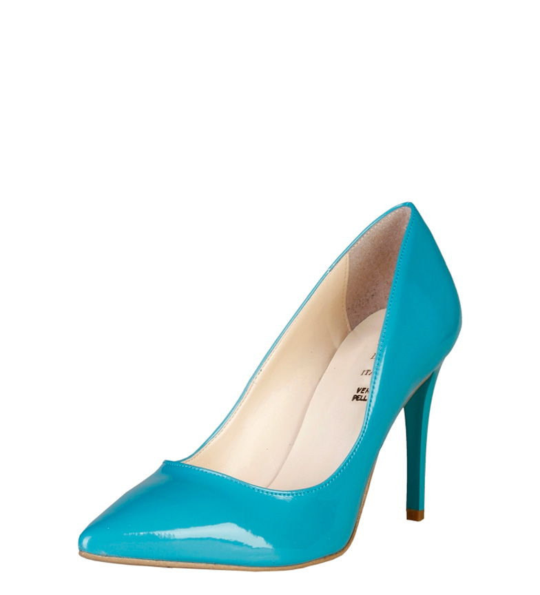 1969 V Violaine Chaussures Eau Verte Hauteur Du Talon: 9,5 Cm