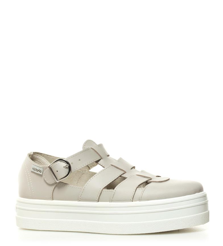 Victory Chaussures En Cuir Beige Hauteur De Plate-forme: 4cm nouvelle version offres de sortie pas cher ebay qFmOENvH
