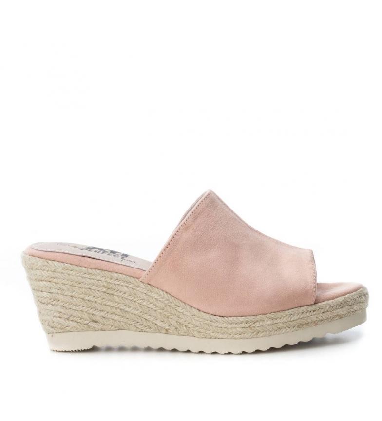 Sandale Compensée Xti Moitié Jute Nude 048133