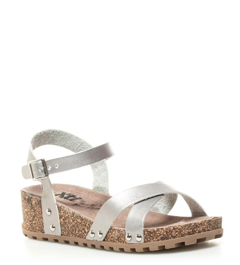 Sandales Compensées En Argent Xti Hauteur De Liana: 4cm réelle prise ObUAJ8F1qp