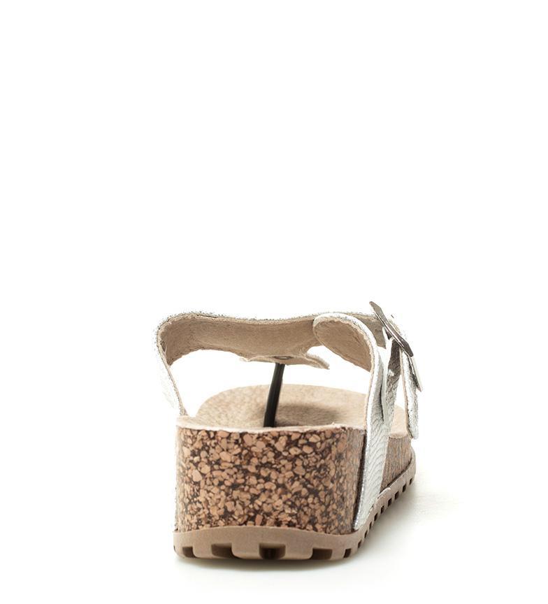 Sandales Compensées En Argent Xti Hauteur Martina: 5cm Réduction édition limitée uBc4trQEBJ