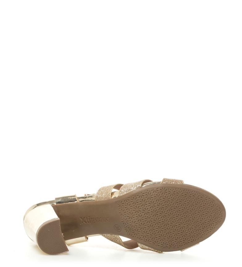 Xti Sandales Compensées Or Hauteur De La Marée: 8.5cm achats en ligne Livraison gratuite recommander qjXc9rvw
