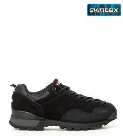 + 8000 Zapatillas de piel Thin negro-Membrana waterproof Skintex-