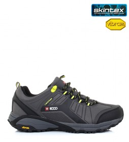 + 8000 Trekking shoes Tesas gray, green-Skintex waterproof membrane and VIBRAM outsole-