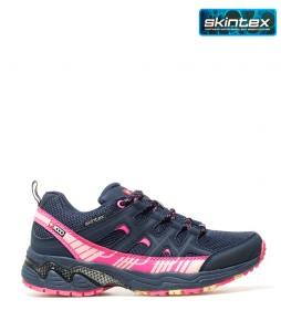 + 8000 Zapatillas trekking / hiking Topar marino, fucsia -Membrana waterproof Skintex-