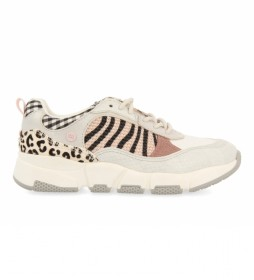 Zapatillas Solvang con Animal Print beige, animal print