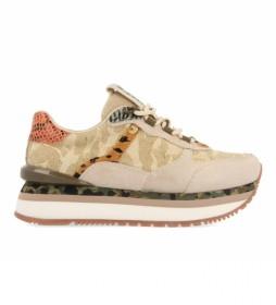 Zapatillas Menden de Camuflaje Y Animal Print beige