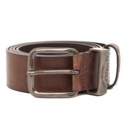 Cinturón de piel B-Frag marrón