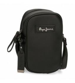 Bandolera porta móvil Aina -10,5x17x5cm- negro