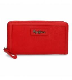 Cartera Chain -18x10x2cm- rojo