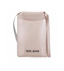 Bandolera porta móvil  Cira -13x18x1cm- rosa metalizado