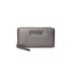 Cartera Cira -18x10x2cm- gris metálico