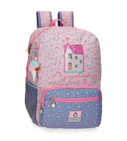 Mochila Portaordenador My Sweet Home -32x42x15cm- rosa