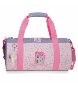 Bolsa de Viaje My Sweet Home rosa -41x21x21cm-