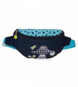 Riñonera My Space azul -27x11x6,5cm-