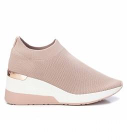 Zapatos 035659 nude -altura cuña 7cm-