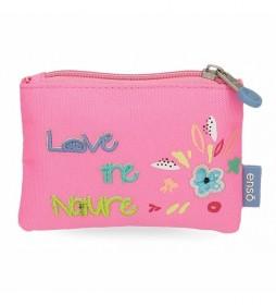 Monedero Love the Nature -11x8x2,5cm- rosa
