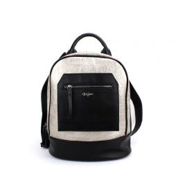 Mochila Streetwear plata -32x28x14cm-