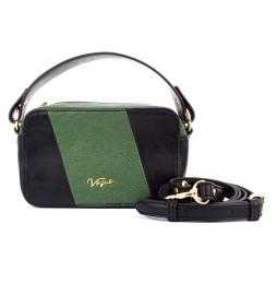 Bolso Weekend negro, verde -11x18x7cm-