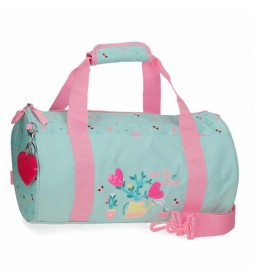 Bolsa de viaje Flower Pot turquesa -41x21x21cm-
