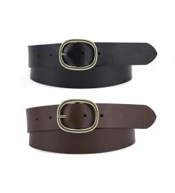 Cinturón de piel Arletha Reversible marrón