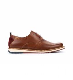 Zapatos de piel Berna M8J marrón oscuro