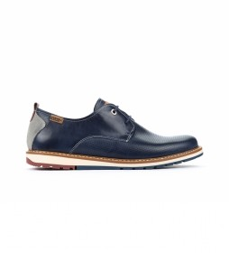 Zapatos de piel Berna M8J azul
