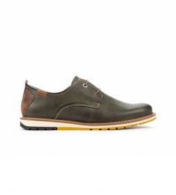 Zapatos de piel Berna M8J verde
