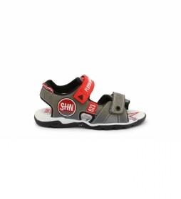 Sandalias 6015-030 gris, rojo