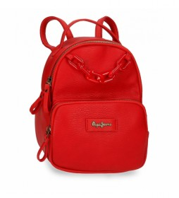 Bolso Mochila Chain -20x26x10cm- rojo