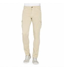 Pantalón bolsillos laterales 619S-842X marrón