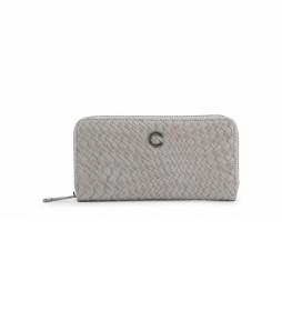 Cartera Braid CB4191 gris  -20x10,5x2,5cm-