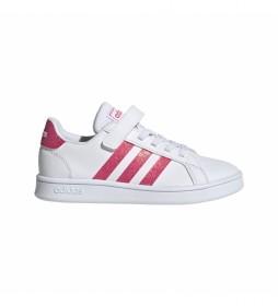 Zapatillas Grand Court C blanco, rosa