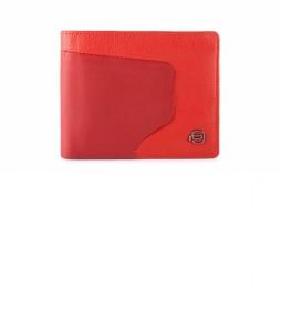 Cartera de Piel PU4823AOR rojo -11,5x9,5x1cm-