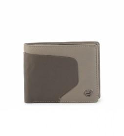 Cartera de Piel PU4823AOR gris -11,5x9,5x1cm-